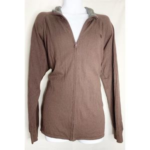 The north face brown full zip sweater XL